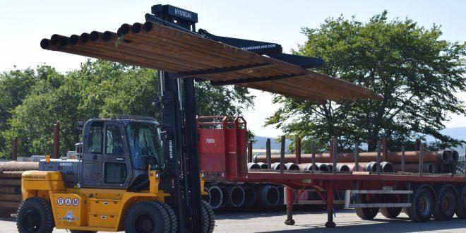RAM Tubulars take first Hyundai Forklift from new Hyundai distributor Bear Handling