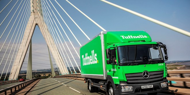 Tuffnells updates its brand image with 10 advanced Mercedes-Benz Atego from Roanza