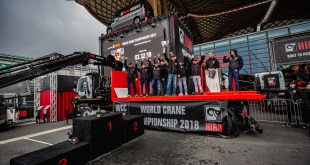 Hiab crowns Andreas Öhman from Sweden as World Crane Champion 2018 at the IAA