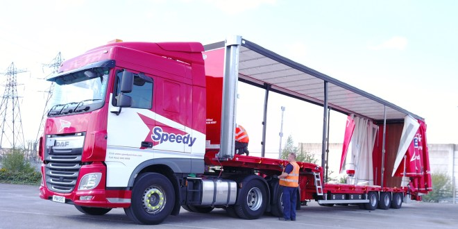 Cartwright Helps Speedy Hire Create a Multi Purpose Delivery Solution with New Curtainsiders