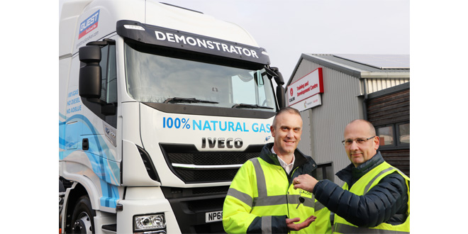 Calor trials UK first IVECO Stralis 6x2 LNG truck from Guest