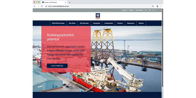 New website for Forth Ports showcases Group's world class services