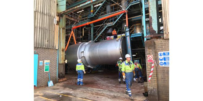 Britlift Equipment Lifts 37 Tonne Heat Exchanger