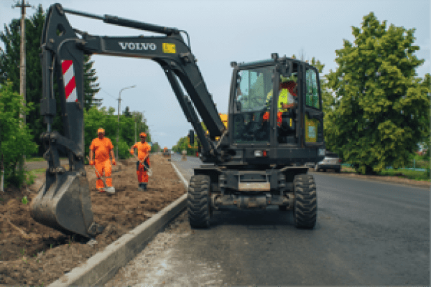 Volvo EW145B excavator