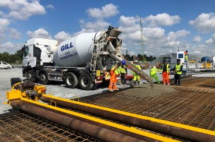 First concrete pour of new Tilbury 2 ro-ro terminal