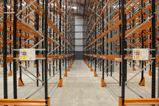 Mosaic Fulfilment Solutions new extension inside racking
