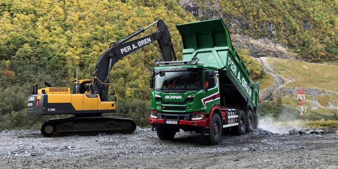 Scania 6×6 G500 trucks replace dumpers in Norway