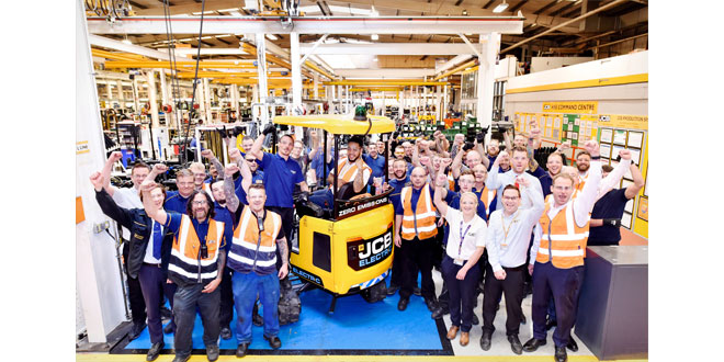 ELECTRIC JCB DIGGER IN FULL PRODUCTION