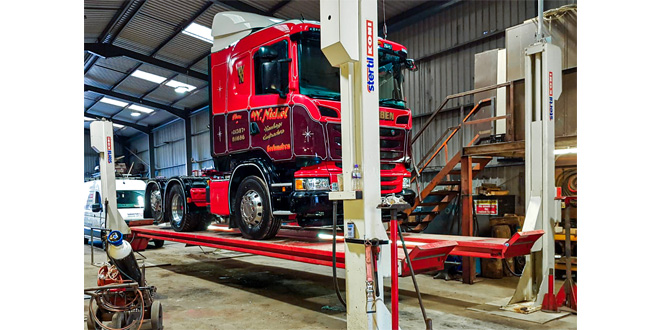 Scottish haulage contractor relies on Stertil Koni heavy duty vehicle lift