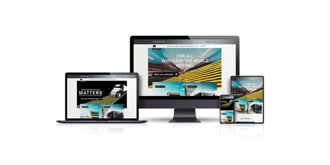 Daimler Truck AG many brands one family one website