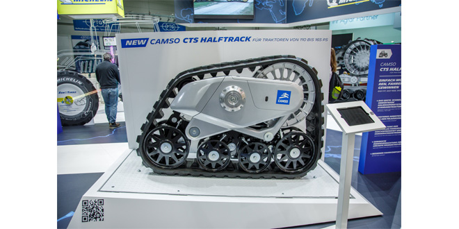 New Camso Halftrack conversion track system for 110-165 HP tractors premiered at Agritechnica