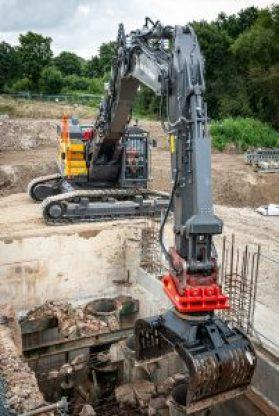 Ron Hull Demolition new Volvo excavator