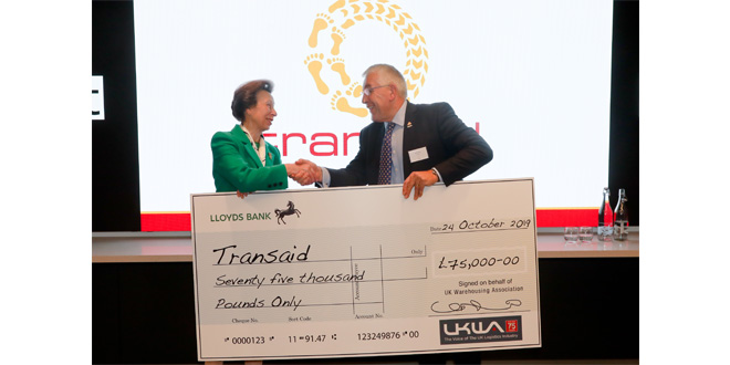 UKWA present Transaid with a big cheque
