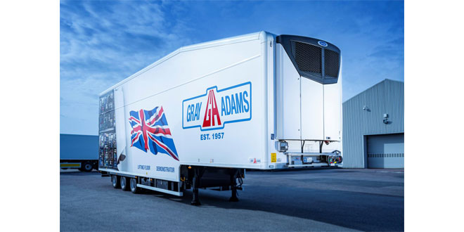 Carrier Transicold Vector HE 19 Unit Cools Gray & Adams Lifting Deck Demonstrator