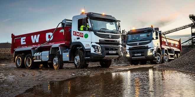 EWD RECYCLING PLACES CONFIDENCE IN VOLVO FMX EIGHT-WHEELERS