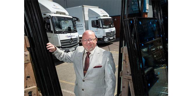 Jeff Hooson, with Custom Glass's latest Mercedes-Benz Atego 7.5-tonners