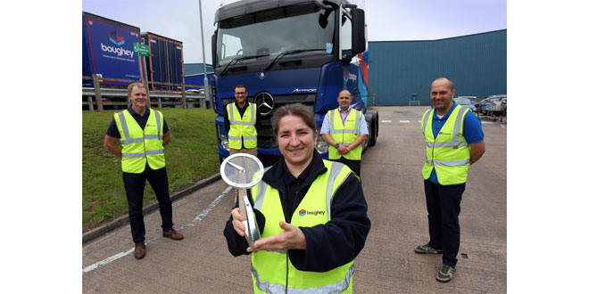 Boughey Distribution Wins Most Improved In The Microlise Driver of the Year Awards 2020