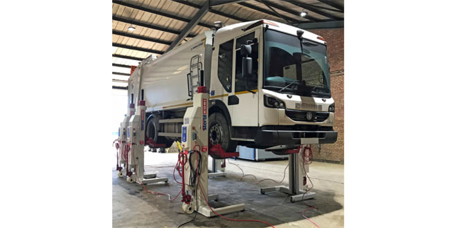 STERTIL KONI MOBILE COLUMN LIFTS SUPPORT NEW WORKSHOP