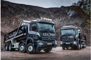 Robust, fuel-efficient Mercedes-Benz Arocs tippers dig in with Barrachander Quarry