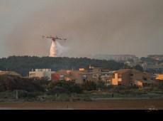Incendie sur Narbonne-plage