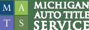 Michigan Auto Title Service White Logo