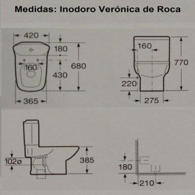 Medidas del inodoro Verónica de Roca