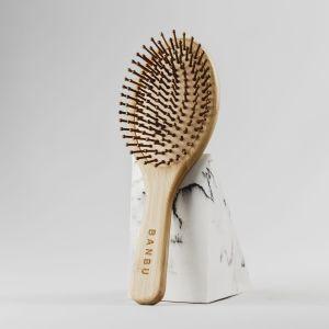 cepillo de pelo de bambú
