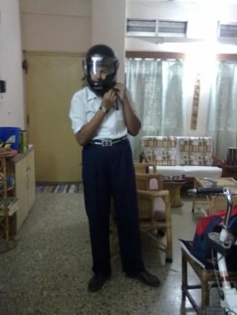 2010 - when we got Vidur a helmet