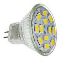 LED spotlampen 560 lm GU4 MR11 MR11 12 LED kralen SMD 5730 Decoratief Koel wit 12 V / RoHs ...