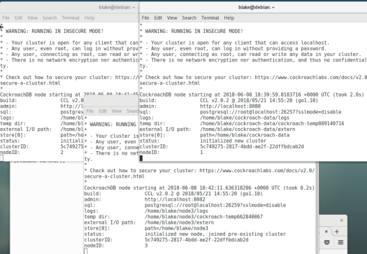 CockroachDB Test Drive – Mi4 Blog