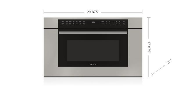 30 m series transitional drop down door microwave oven