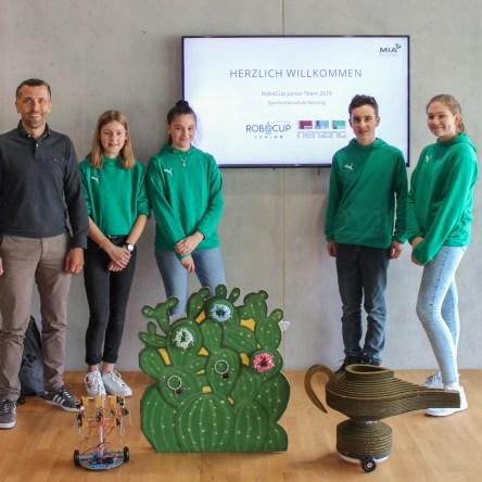 MIA unterstützt RoboCup Junior Team der MS Nenzing