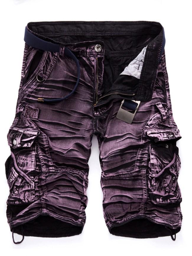 Fashionmia Flap Pocket Printed Men's Cargo Shorts