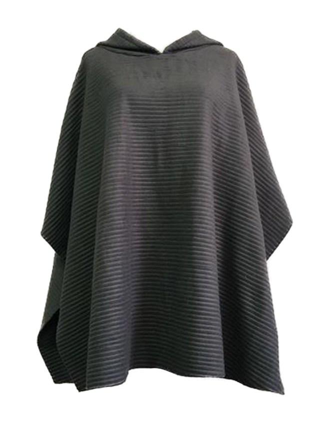 Fashionmia Hooded Plain Sleeveless Cape