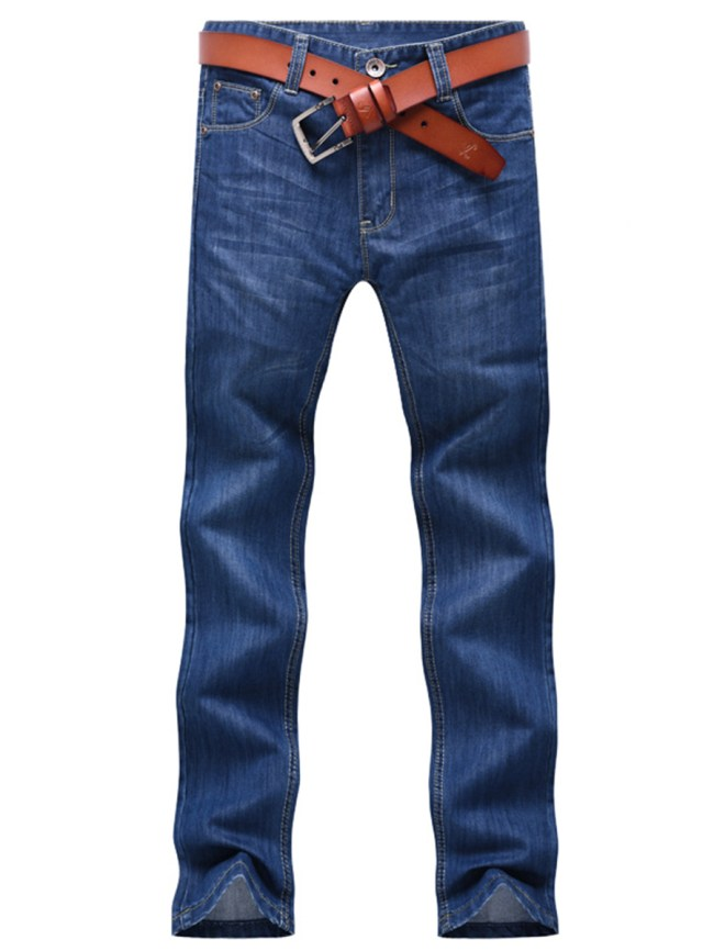 Fashionmia Casual Patch Pocket Straight Men's Jeans
