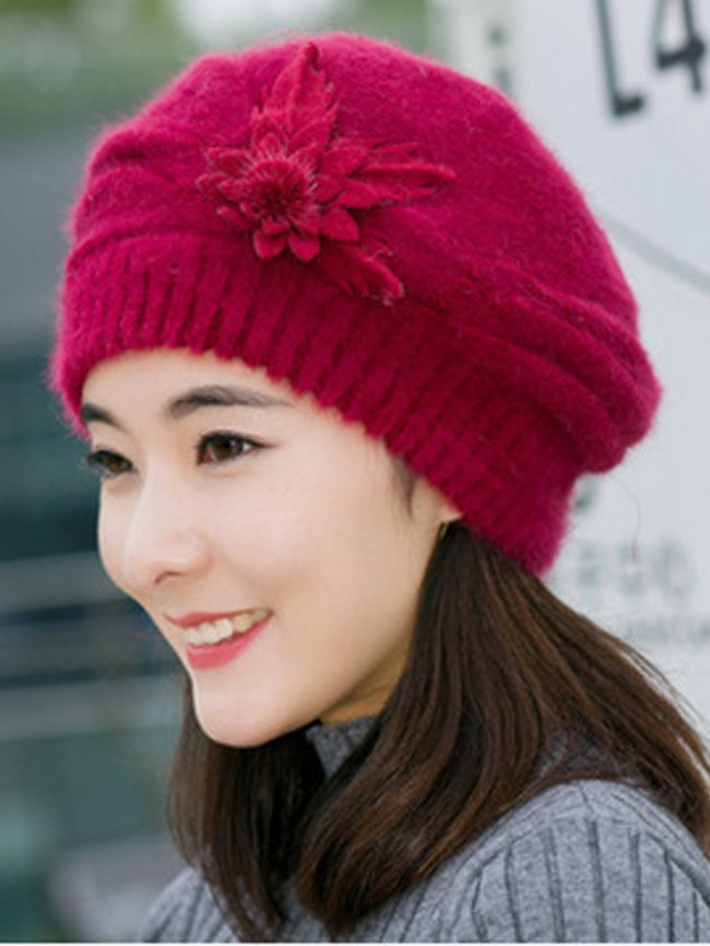 Fashionmia Lady Elegance Fashion Faux Fur Plain Polyamide Hats For Winter