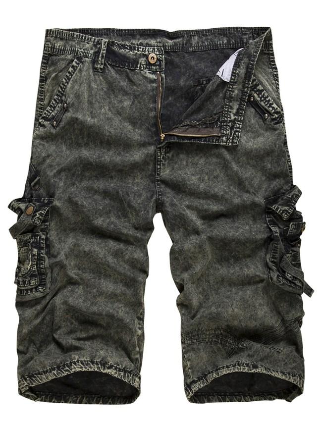 Fashionmia Flap Pocket Printed Straight Men's Cargo Shorts