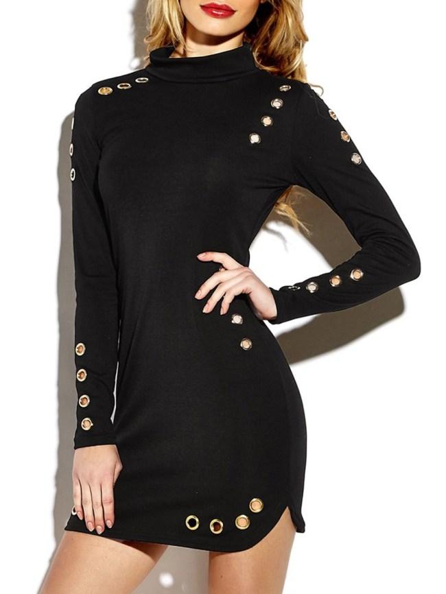 Fashionmia Plain Blend Bodycon Dress