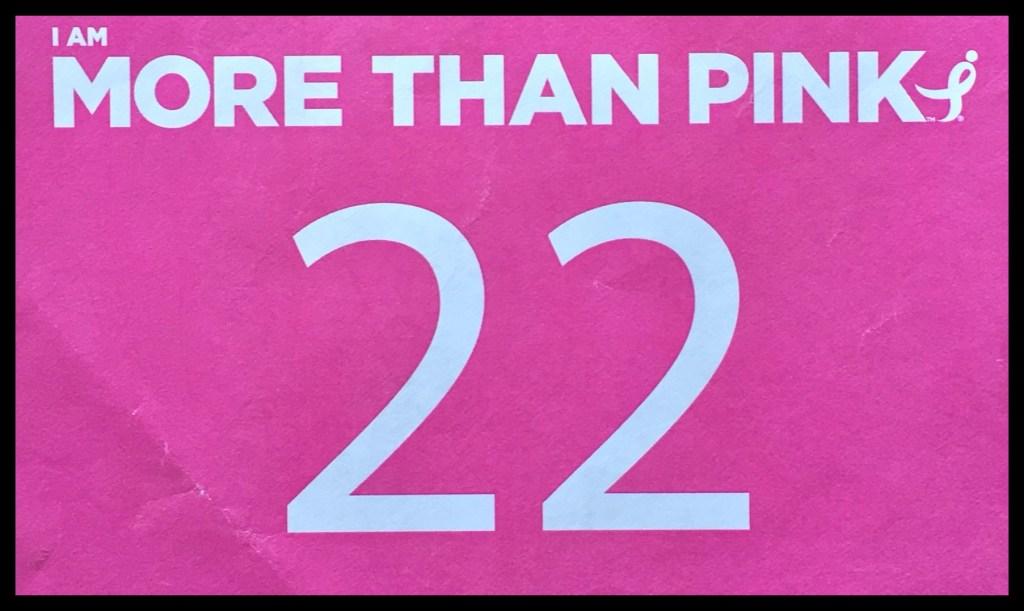 Pink #22 race bib