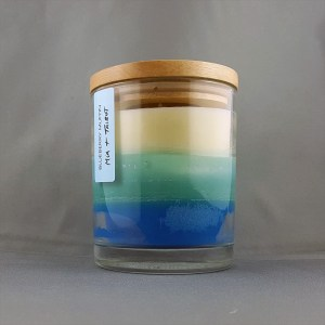 Blue Ombre Candle