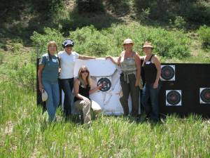 Our group with a first time bulls-eye!