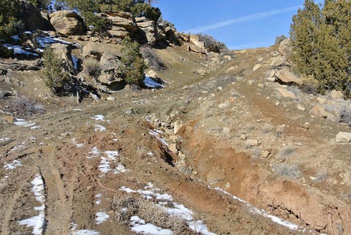 Mud, ruts, rocks and holes