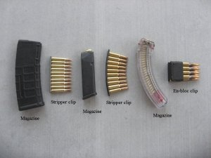 Difference between a clip and magazine