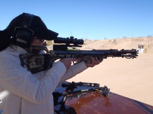 Mia Anstine Shooting TenPoint Crossbow