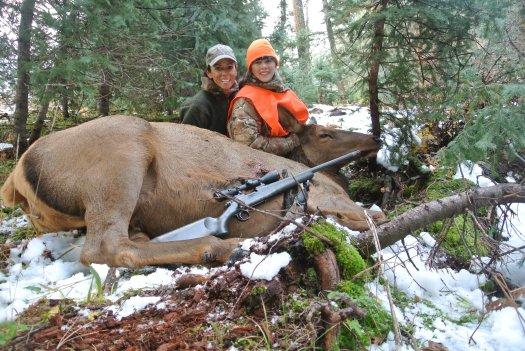 Mia & LG with her Colorado elk.
