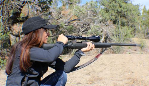 Womens-hunting-rifle-Christiansen-Arms-270WSM-Swarovski-optics-Mia-Anstine-photo