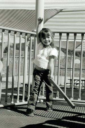 Little-girl-pretends-to-slay-dragons-Lea-Leggitt-Mia-Anstine-photo
