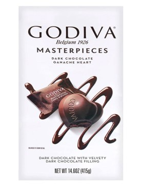 Godiva Dark Chocolate Ganache Hearts 14.6 oz 4-count
