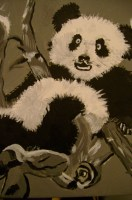 Rachel's Paint Black and white panda