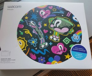 Box of Wacom small tablet purchased at Staples on Sale in June 2018.
